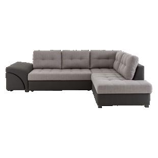 FLY-angle droit convertible tissu noir et gris