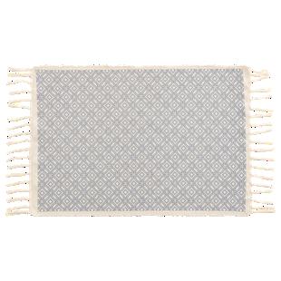 FLY-tapis coton 50x80 blanc/gris clair