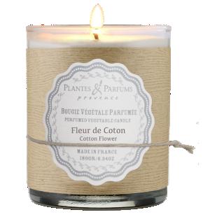 FLY-bougie fleur coton