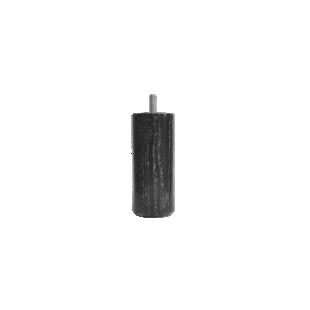 FLY-jeu de 4 pieds cylindre d54 h12cm blanc/noir