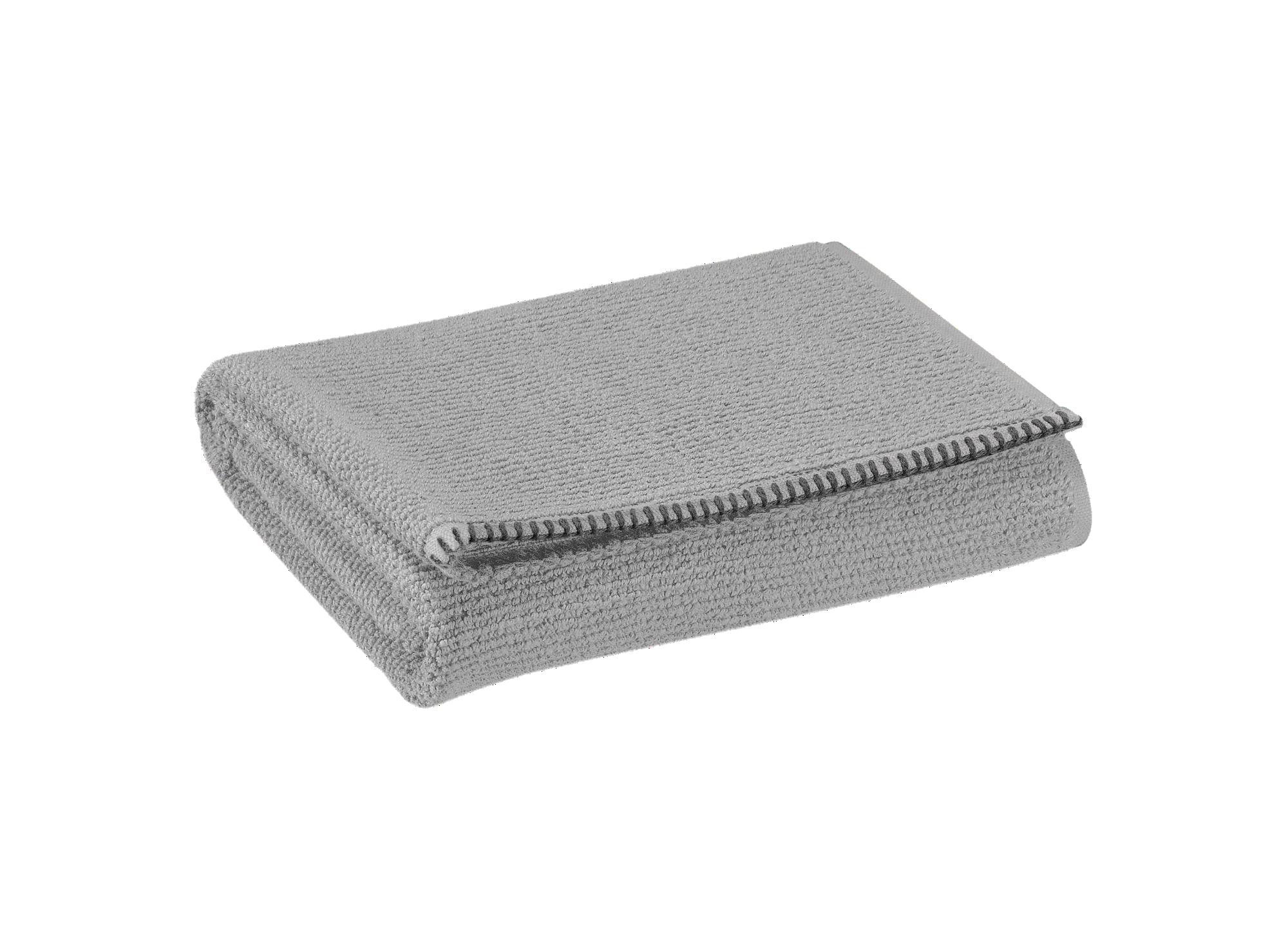 Serviette 70x130 100% coton coloris gris densite 500gr/m2  lavable en ...