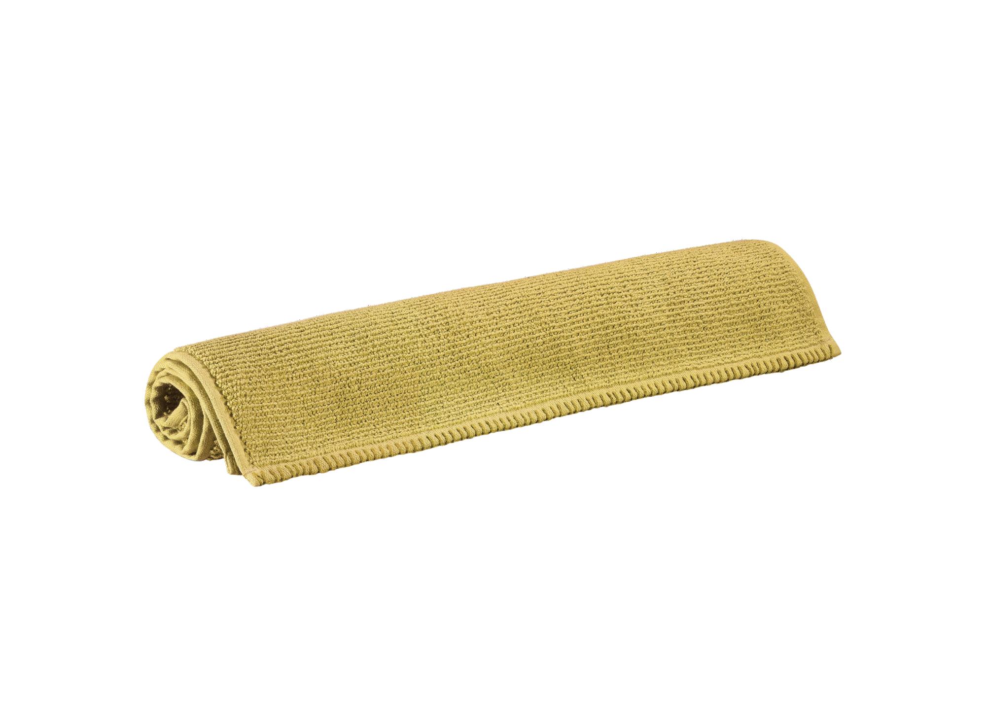 Tapis 50x80 100% coton coloris moutarde densite 760gr/m2  lavable en  ...