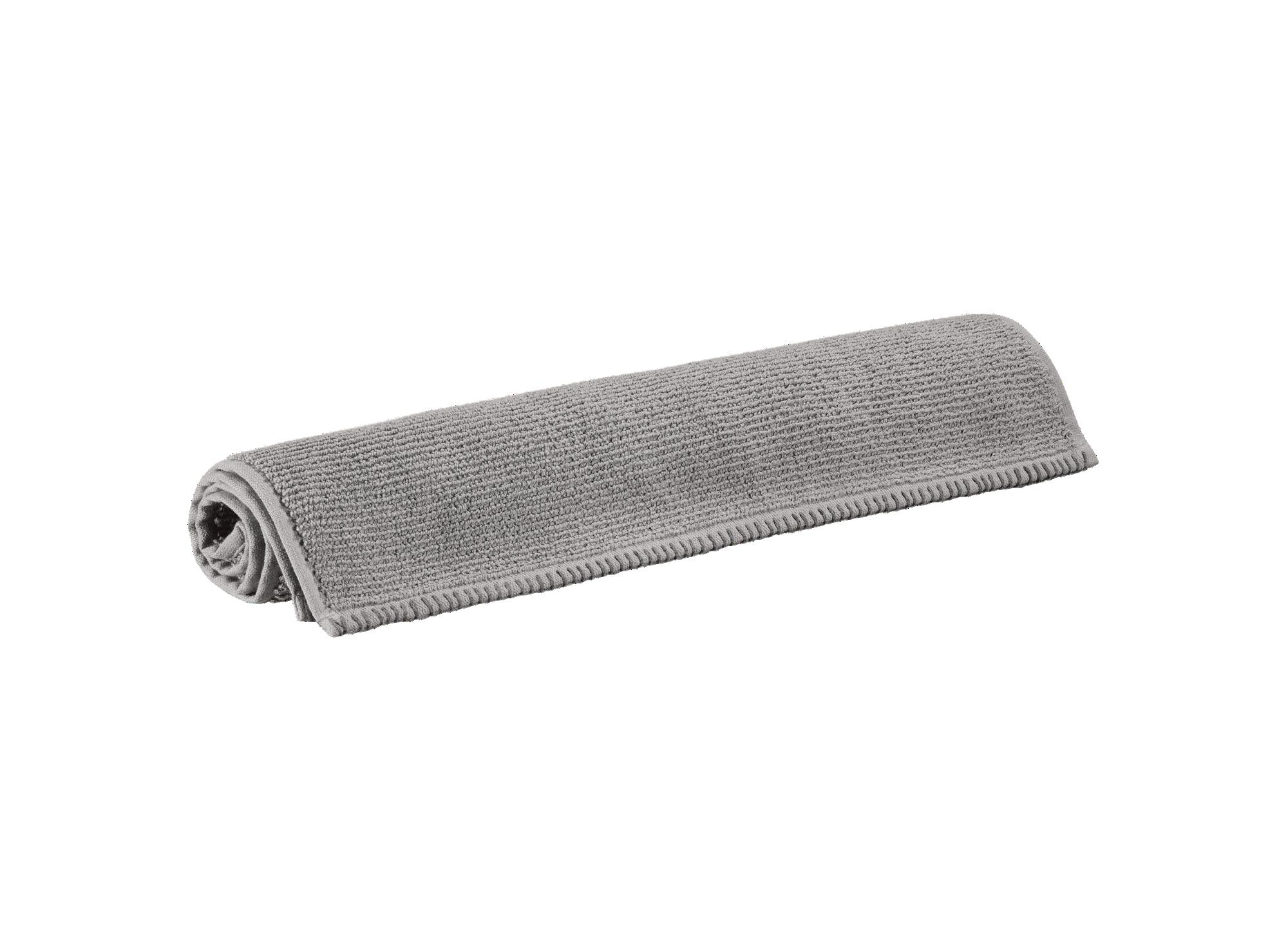 Tapis 50x80 100% coton coloris gris densite 760gr/m2 lavable en mach ...