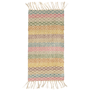 FLY-tapis franges jute 70x170 multicolore