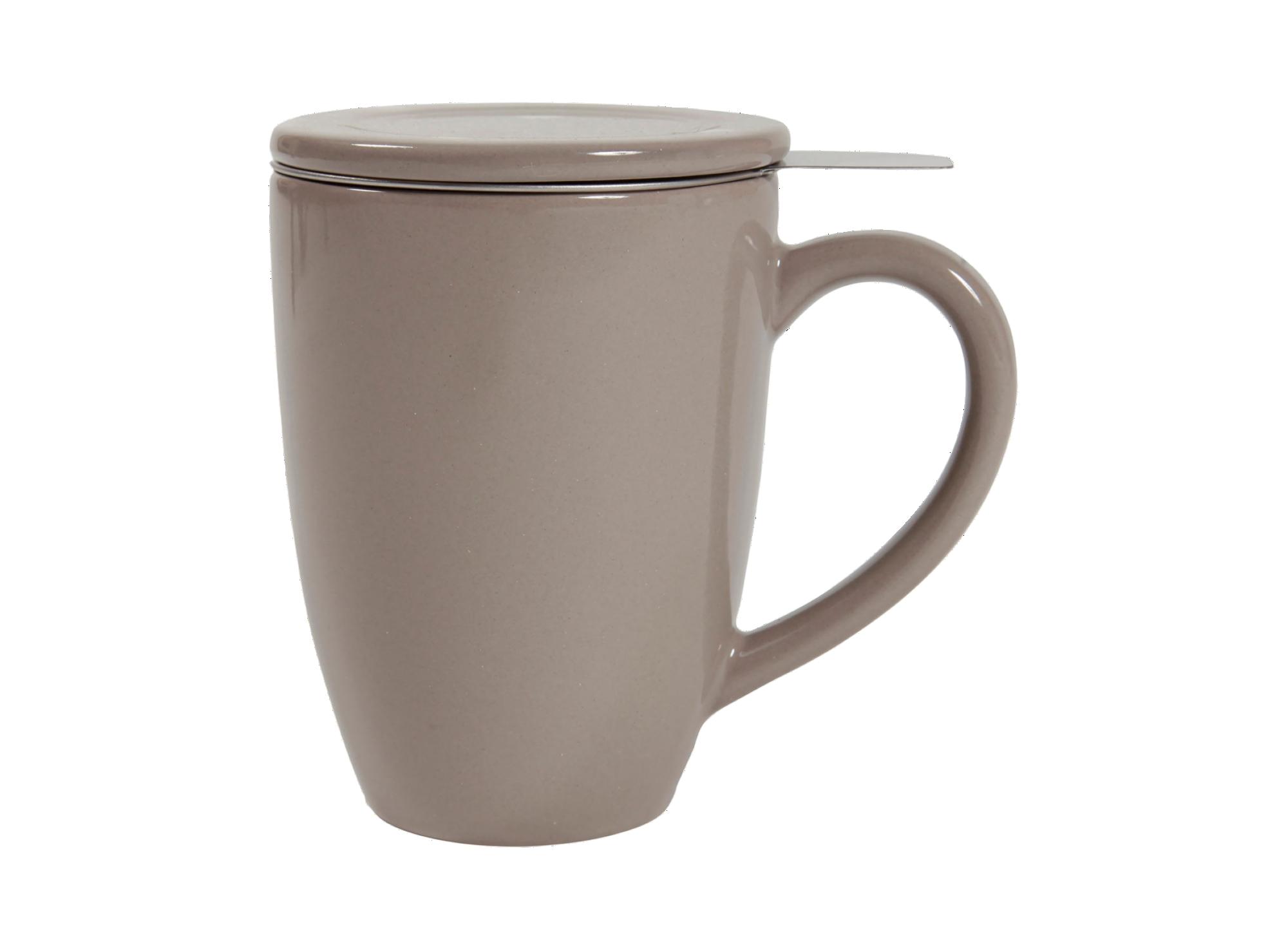 Tisaniere 33cl en ceramique coloris taupe - resiste au lave-vaisselle ...