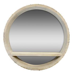FLY-miroir etagere d50cm bois