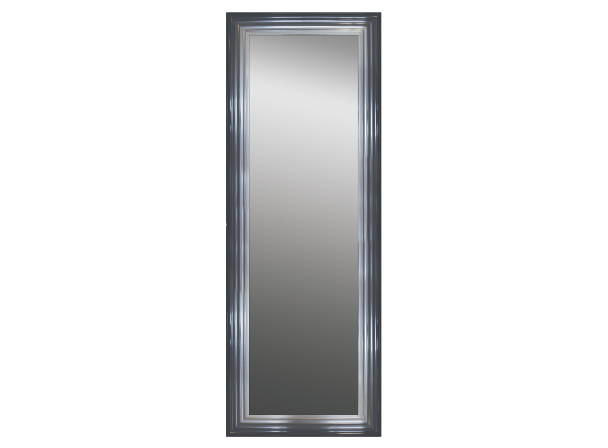 Miroir 40x140 - cadre design coloris gris/noir