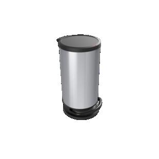 FLY-poubelle 30l ronde effet metal