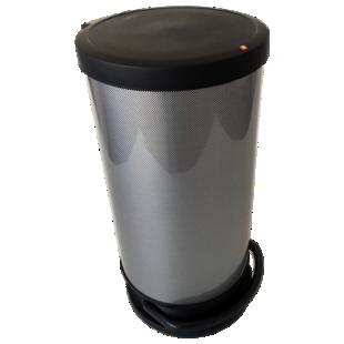 FLY-poubelle 30l ronde carbone