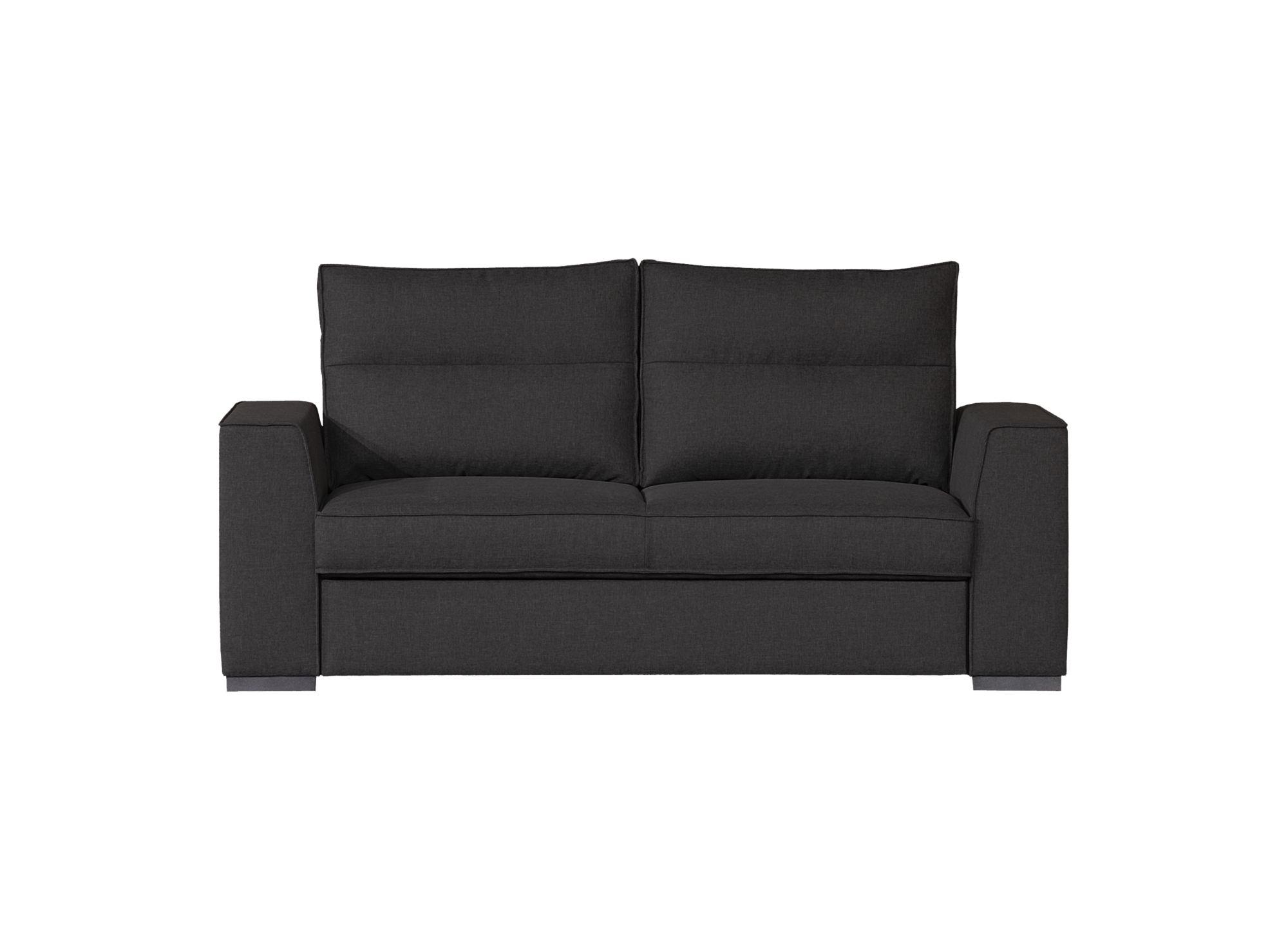Canape convertible 3 places tissu gris anthracite - Canapé | Fly