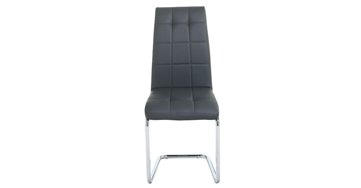 Chaise chrome gris fly - Chaise de bureau fly ...