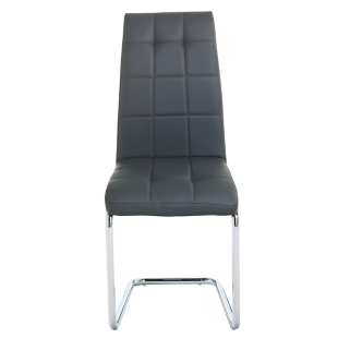 FLY-chaise chrome/gris
