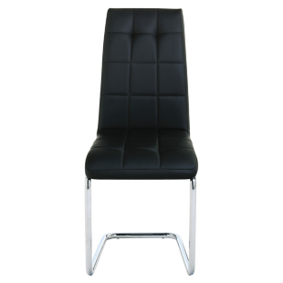 FLY-chaise chrome/noir