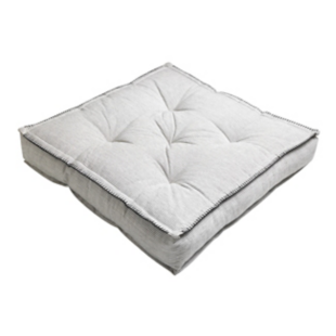FLY-coussin de sol coton 60x60 raye blanc/noir