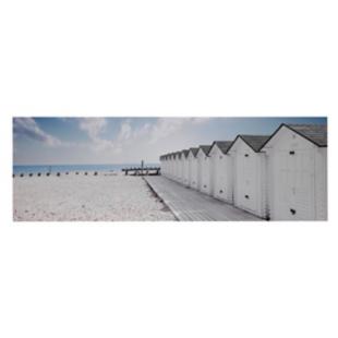 FLY-toile imprimee 120x40 cm plage bleu/blanc/noir