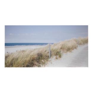 FLY-toile imprimee 160x80 cm plage bleu/beige/vert