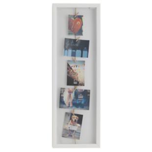 FLY-cadre photos 24x72.4 cm avec 7 pinces blanc/nat