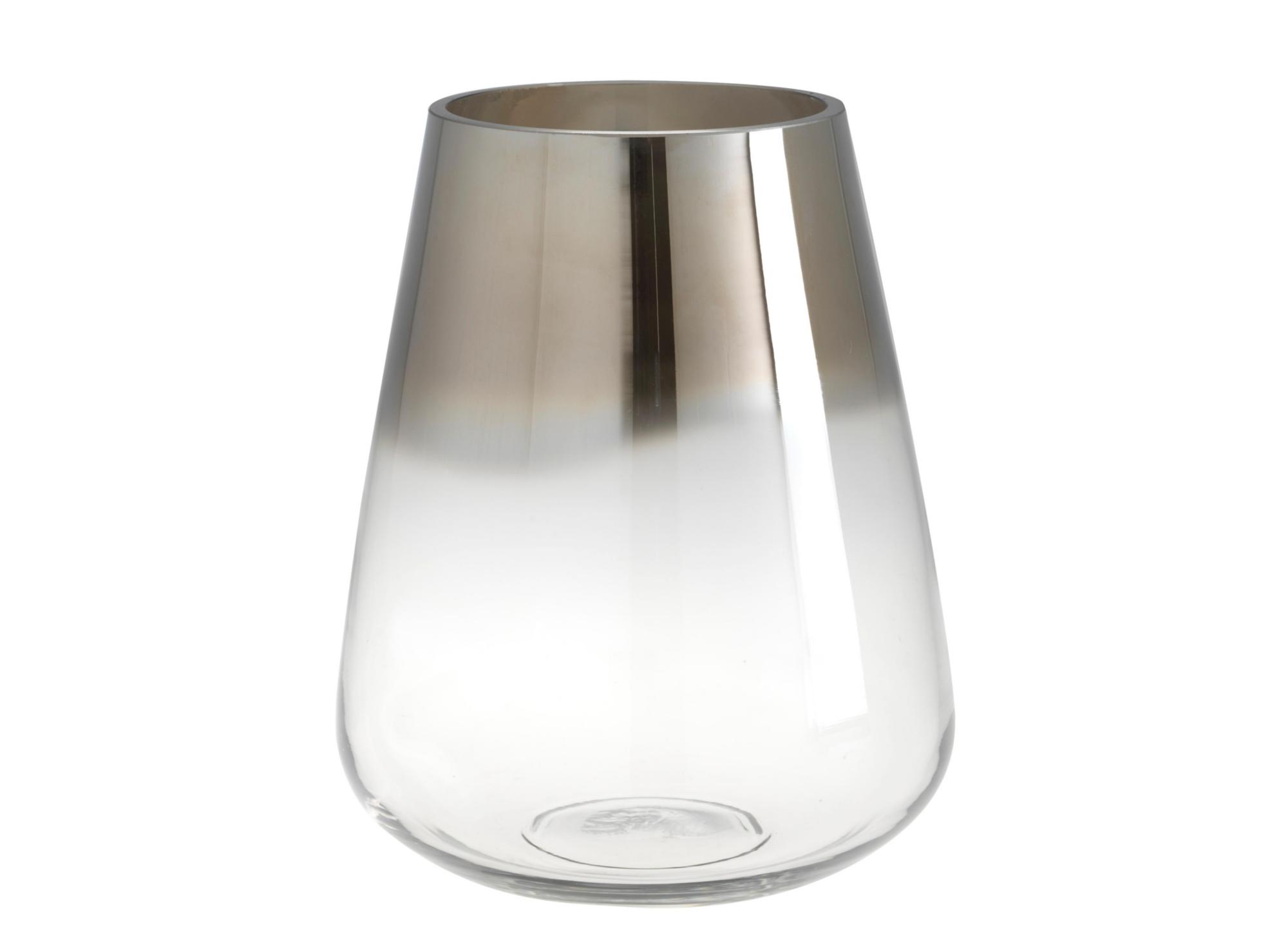 vase en verre souffle h 23 cm transparent argent fly. Black Bedroom Furniture Sets. Home Design Ideas