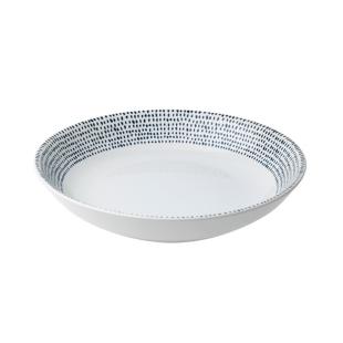 FLY-coupelle en gres d20.5cm blanc/bleu