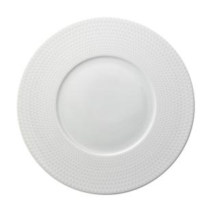 FLY-assiette plate en porcelaine d27cm blanc mat