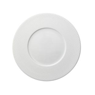 FLY-assiette dessert en porcelaine d23cm blanc mat