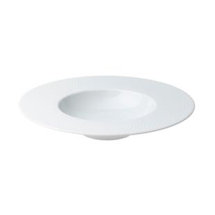 FLY-assiette creuse en porcelaine d23.5cm blanc mat