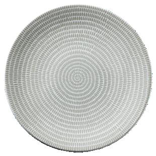 FLY-assiette plate en gres d27cm taupe/blanc