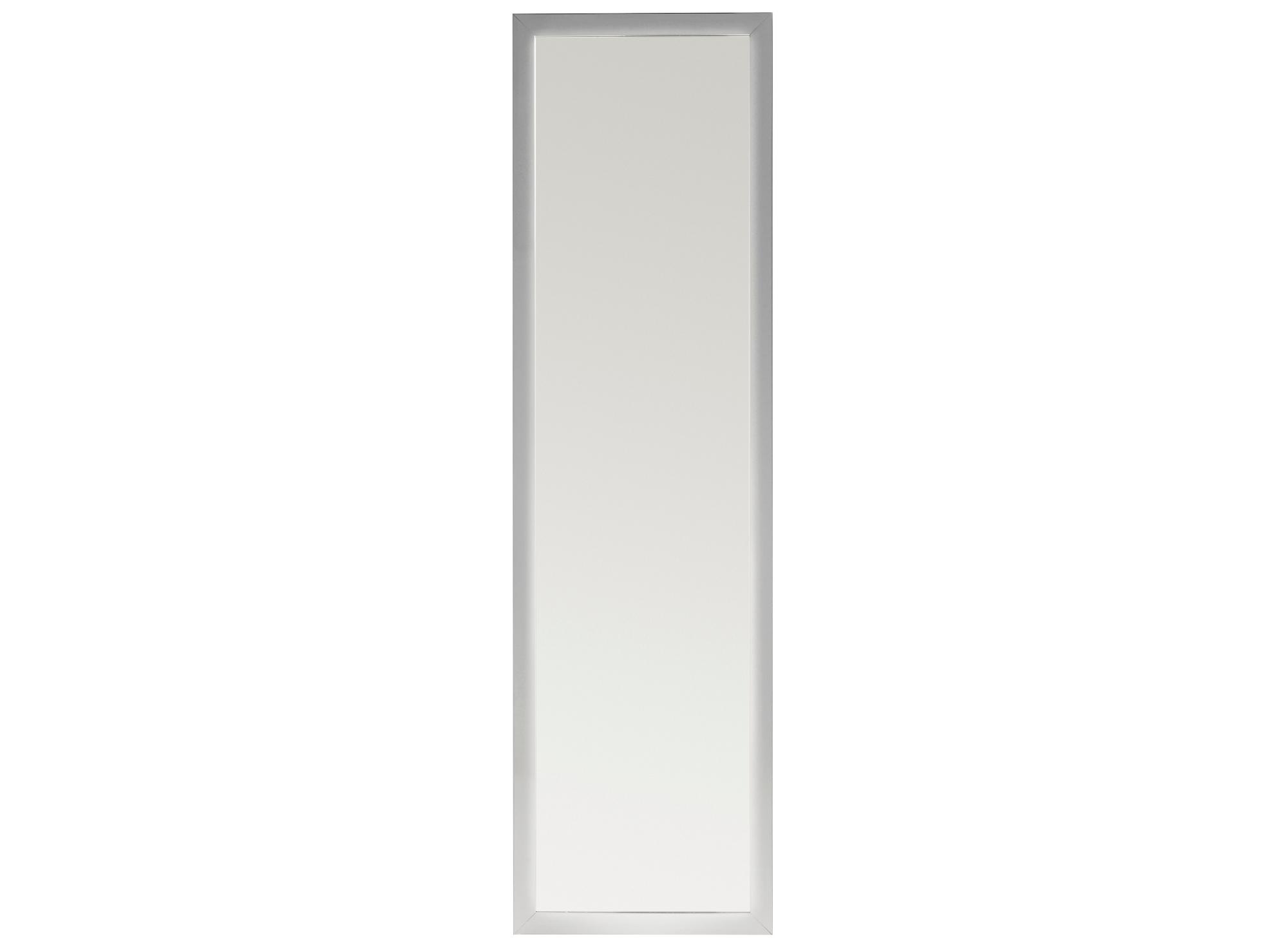Miroir 30x120cm cadre resine argent fly for Miroir sans fond