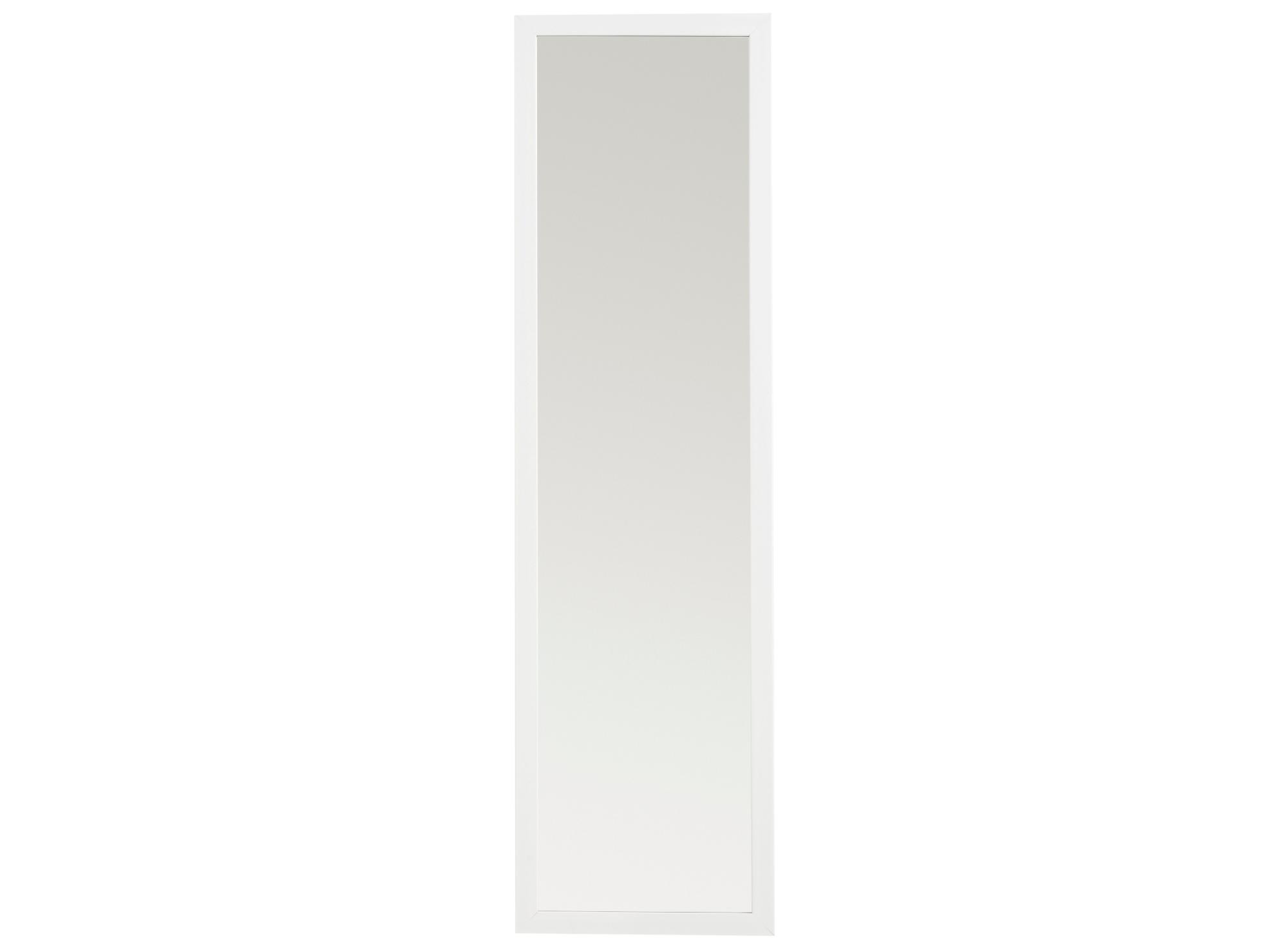 Miroir 30x120cm cadre resine blanc fly for Miroir sans fond