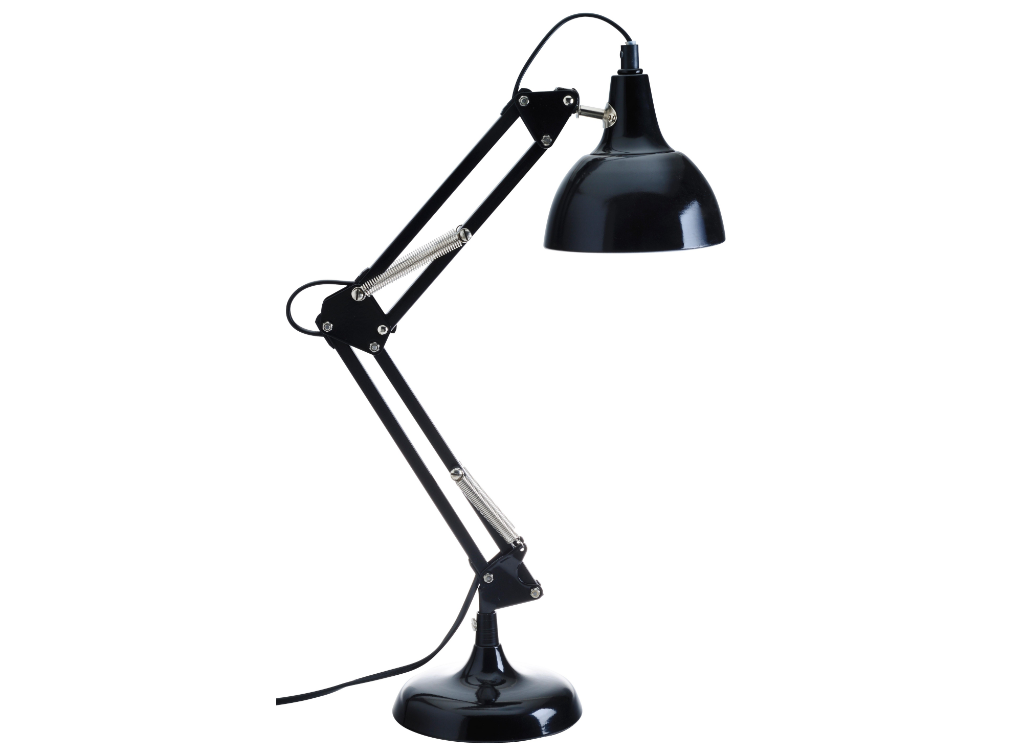 lampe de bureau articulee h 60 cm noir lampe de bureau cat gories luminaire fly. Black Bedroom Furniture Sets. Home Design Ideas