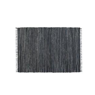 FLY-lirette cuir/coton 50x70 gris/bleu