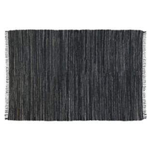 FLY-tapis cuir/coton 160x230 gris/bleu