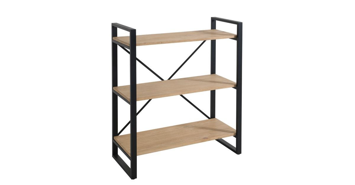 Etagere 3 tablettes noir miel fly - Etagere bibliotheque fly ...