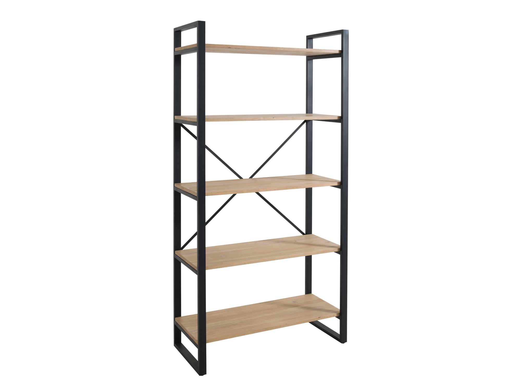 etagere 5 tablettes noir miel fly. Black Bedroom Furniture Sets. Home Design Ideas