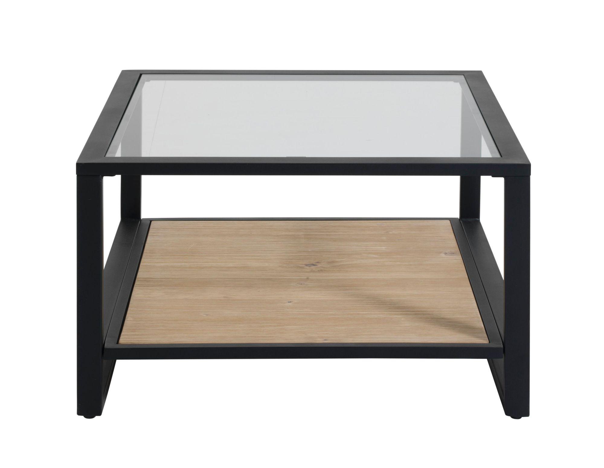 table basse verre/noir/miel | fly