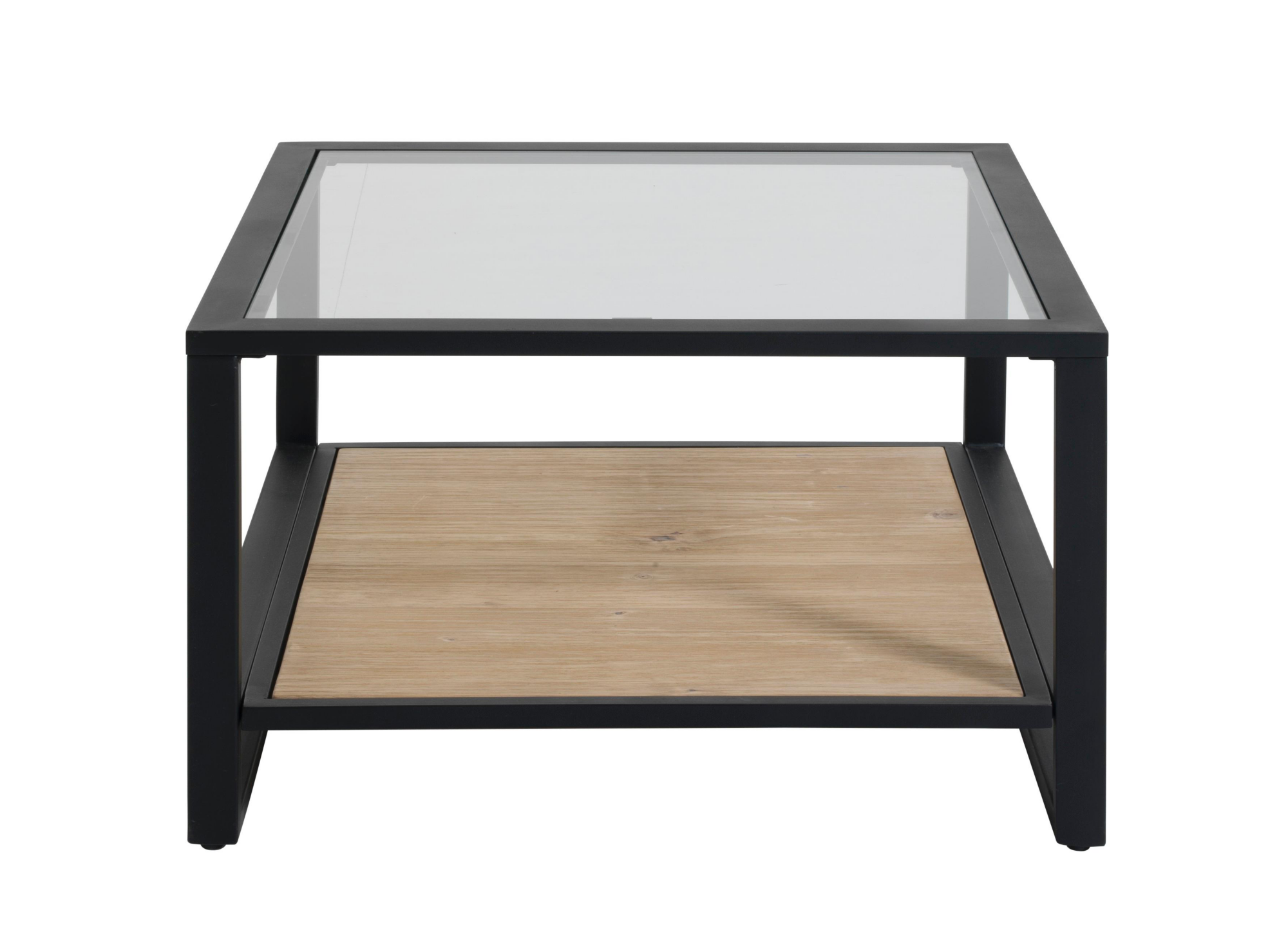Table basse carree.structure e t pietement enfer laque epoxy noir.pla ...