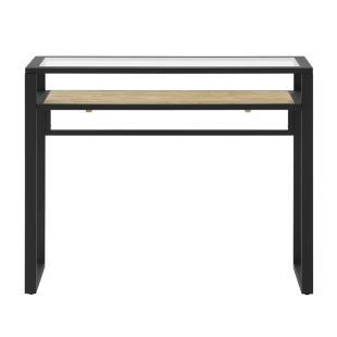 FLY-table console verre/noir/miel
