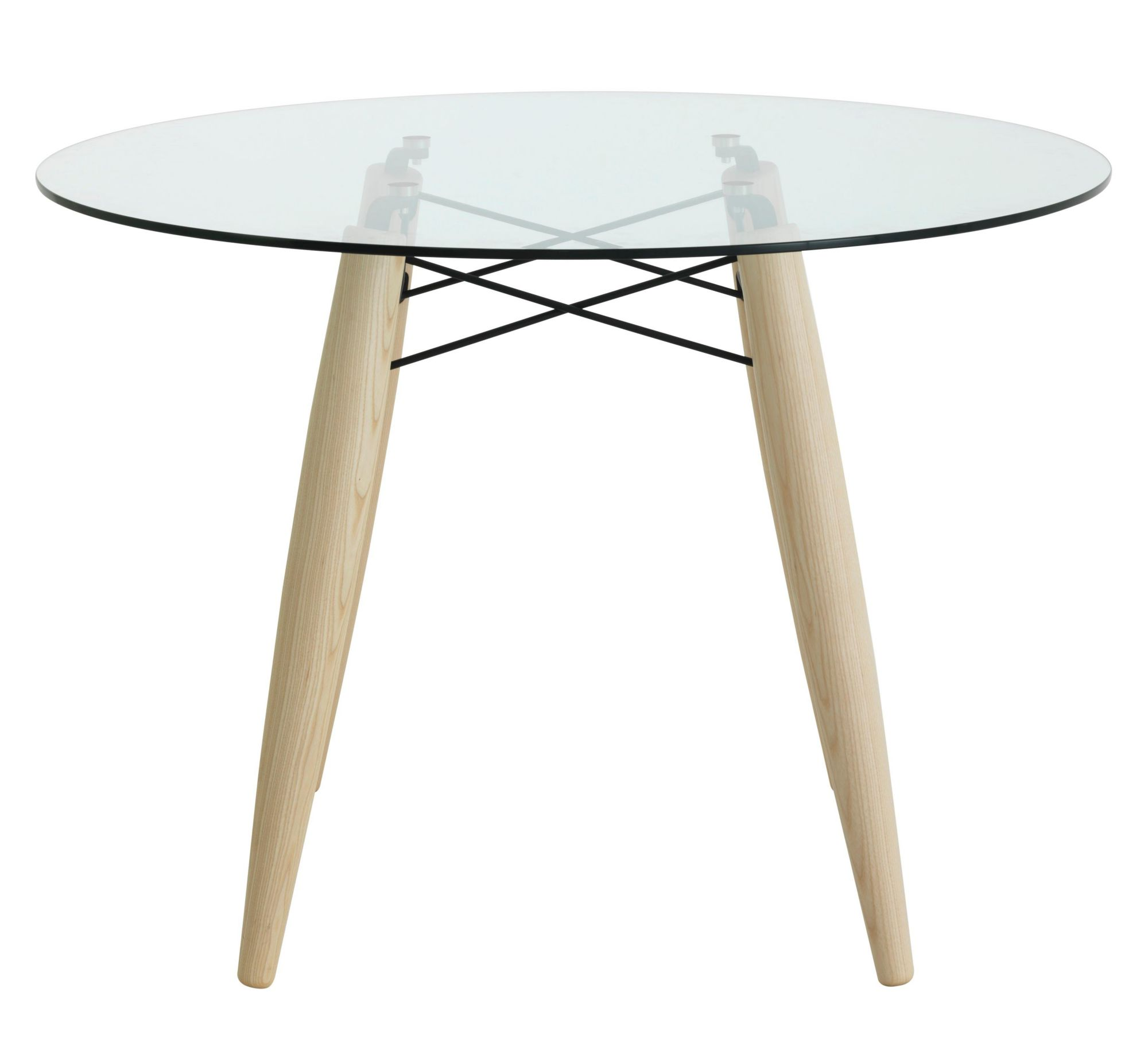 table ronde frene/verre | fly