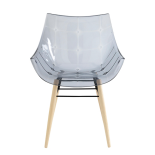 FLY-fauteuil frene blanc/fume