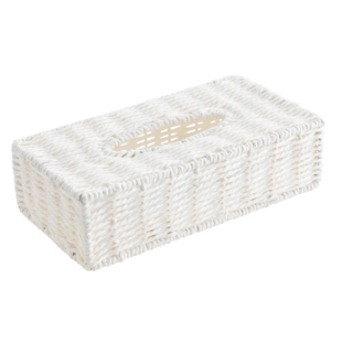 FLY-boite a mouchoirs rectangulaire 26.5x14.5cm blanc