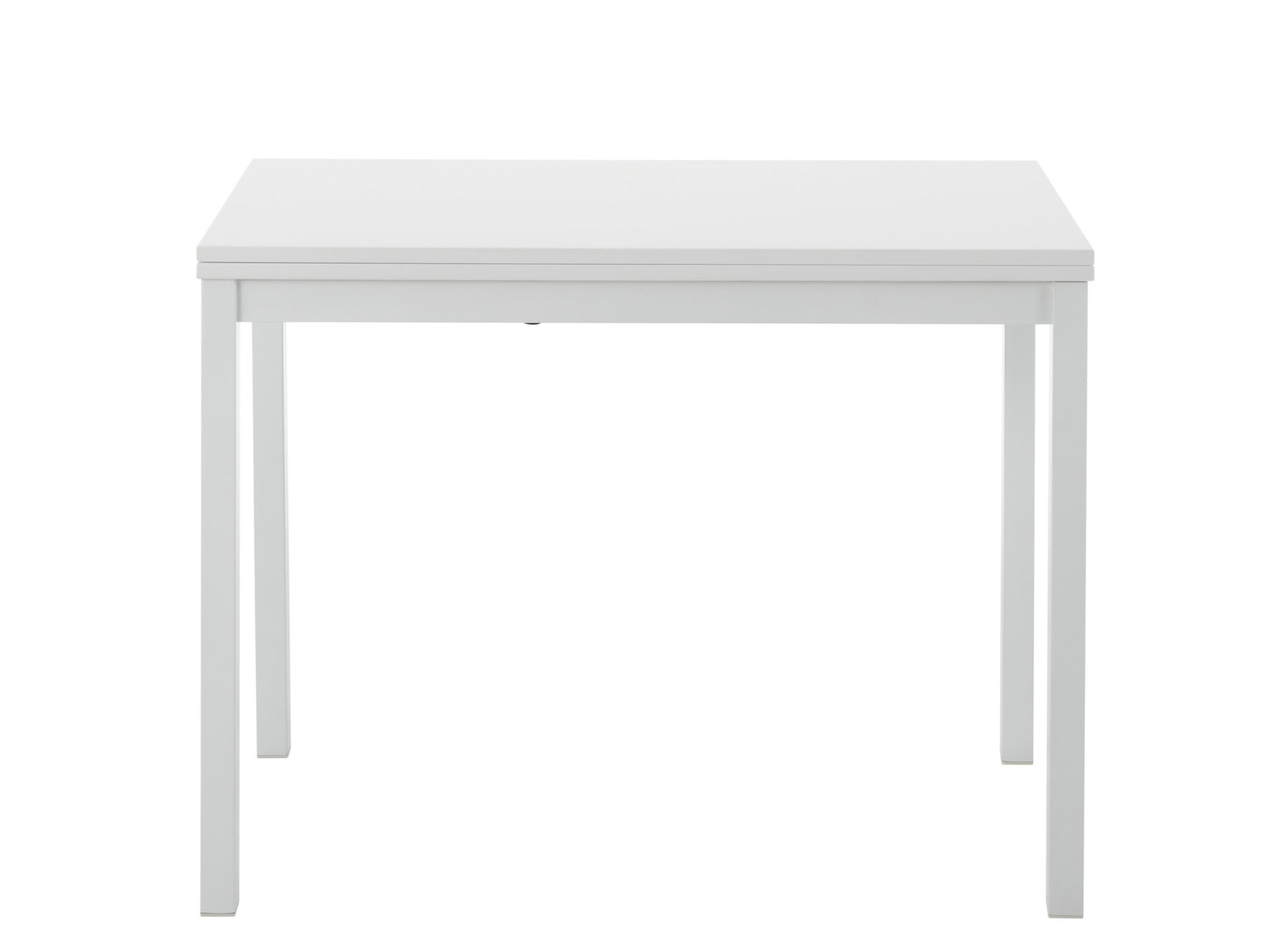 table console plateau depliable blanc fly