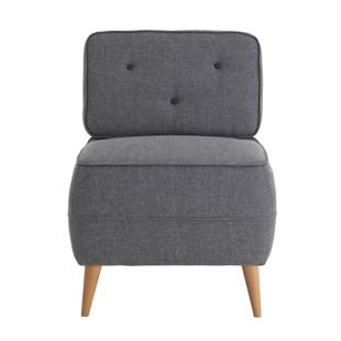 FLY-fauteuil gris clair/gris fonce
