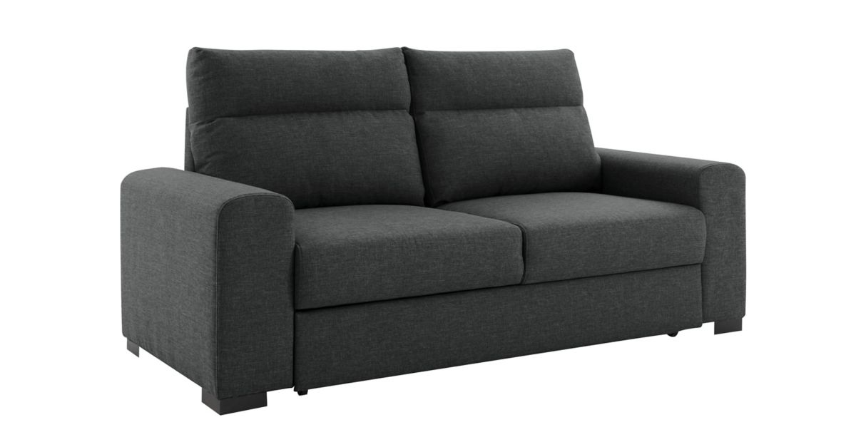 Canape convertible 3 places anthracite canap convertible cat gories ca - Banquette convertible fly ...
