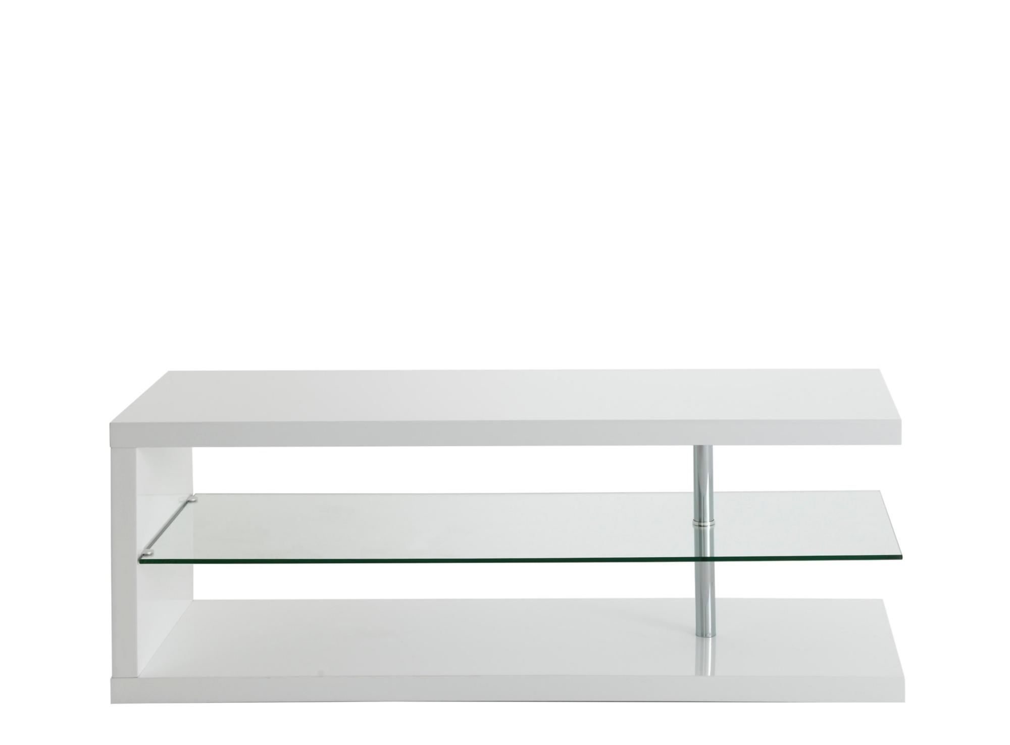 Meuble tv/hifi, 1 tablette en verre trempe (epaiss.8mm). structure en ...