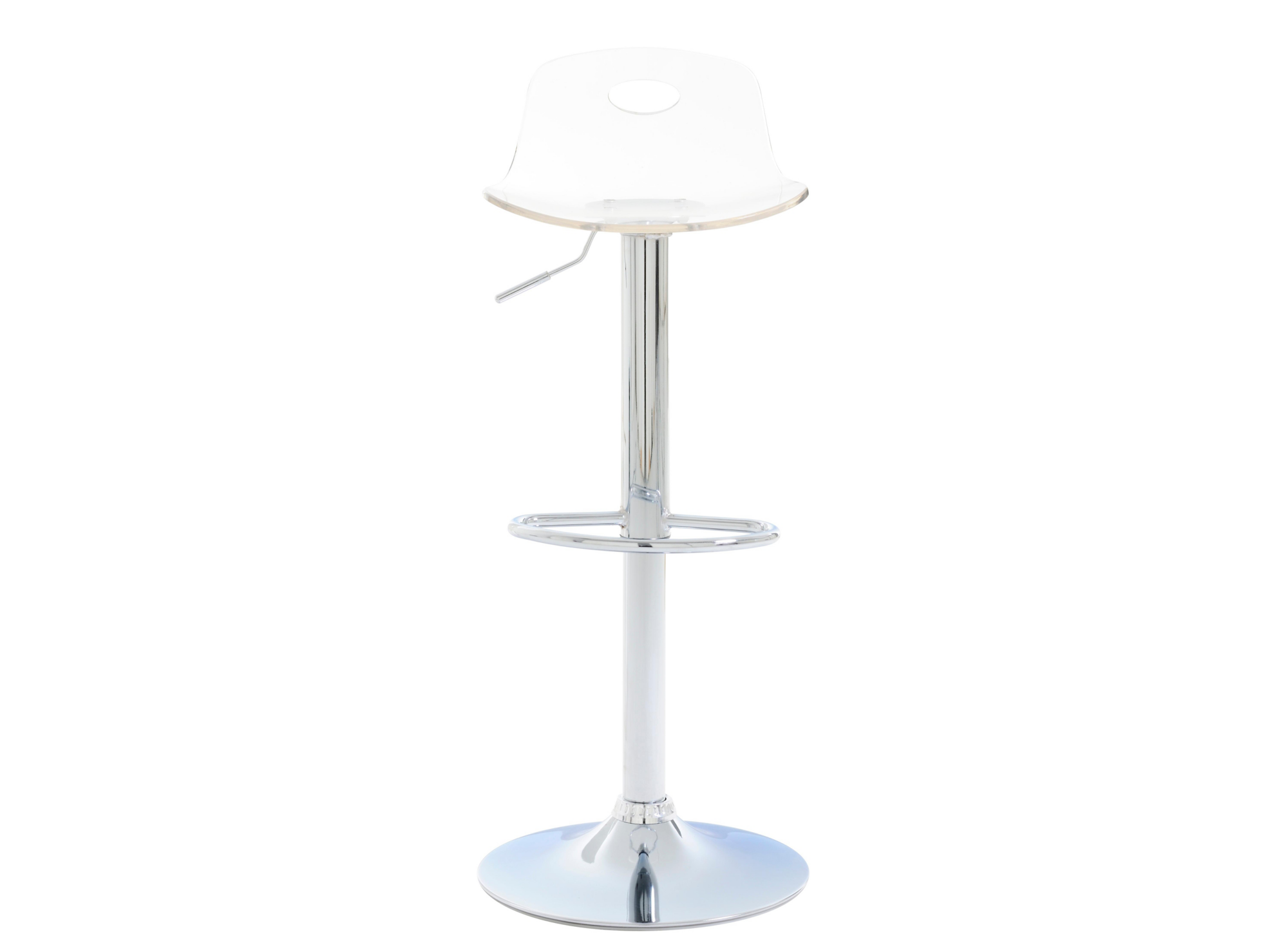 Tabouret de bar chrome transparent tabouret table for Tabouret cuisine fly