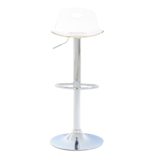 FLY-tabouret de bar chrome/transparent