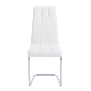 FLY-chaise chrome/blanc