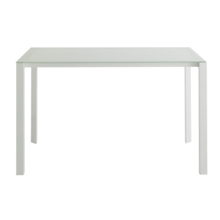 FLY-table 120x75 cm metal/verre blanc