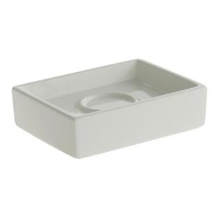 FLY-porte savon en faience 10x4 cm blanc
