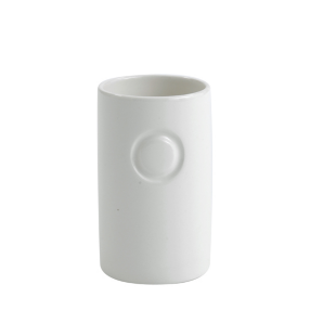FLY-gobelet en faience 7x11 cm  blanc